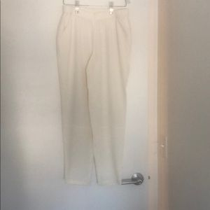 Chiffon relaxed straight leg pants